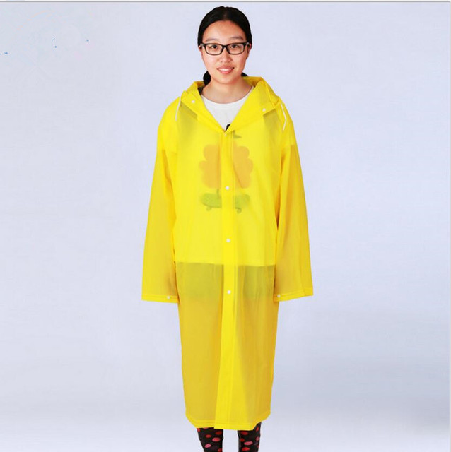 862c2d784d9be3 EVA Mit Kapuze Lange Regen Poncho Wasserdicht Erwachsene Regen Mantel Wind  Proof Lange Regenbekleidung Regenponcho