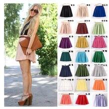 17 видов цветов Женская юбка с высокой талией Летняя короткая