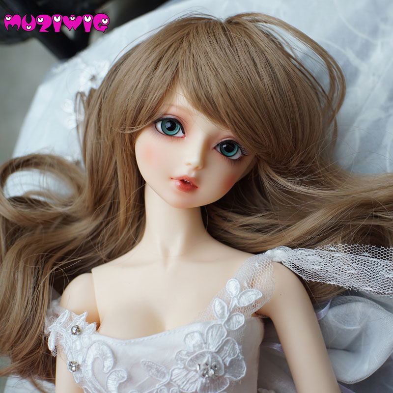 Dolls & Stuffed Toys Generous High Temperature Fiber Beautiful Medium Long Curly Hair Wig 7 Colors For 1/3 1/4 1/6 Bjd Sd Doll Accessories On Sale In Muziwig