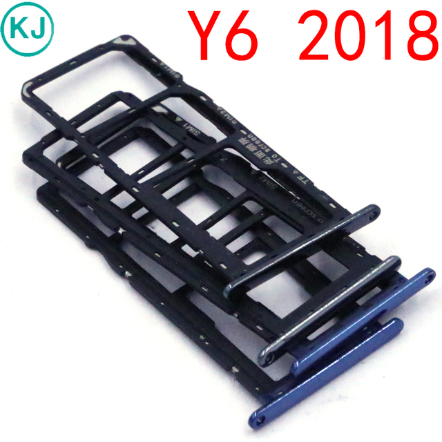 US $1 71 |New Y6 2018 Sim Card Micro SD Reader Holder Sim Tray Adapter for  Huawei Y6 prime 2018-in SIM Card Adapters from Cellphones &