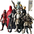 Star Wars The Force Awakens Samurai Taisho Darth Vader Death Star Armor Ashigaru Stormtrooper Boba Fett Action Figure Toys 17cm