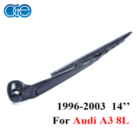 Oge 13'' Set Rear Wiper Blades And Arm For Audi A3 8L 1996 2003 Windshield Glass Car Wipers Silicone Rubber Auto Windscreen