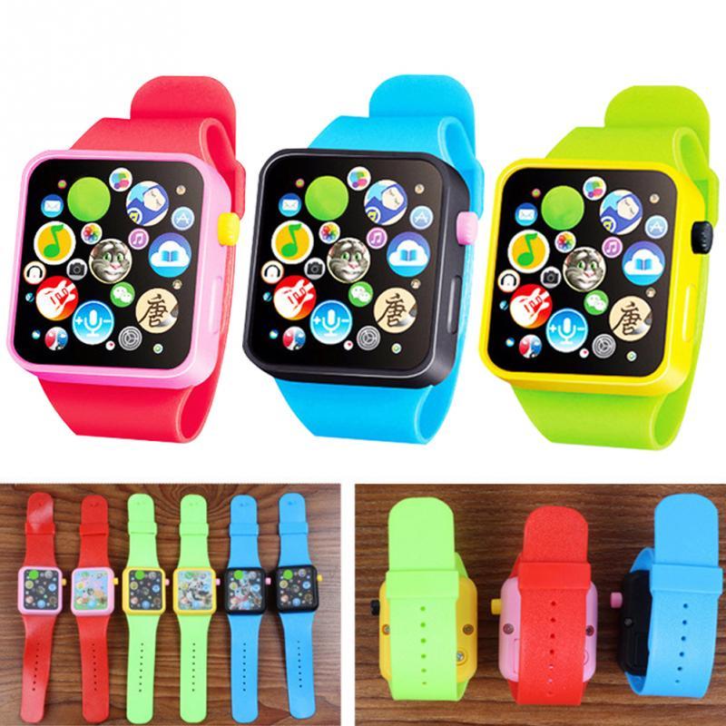 Kids Watch Children Smart Clock 3d Touch Screen Wristwatches School Boy Girl Cute Cartoon Watch Red Yellow Blue
