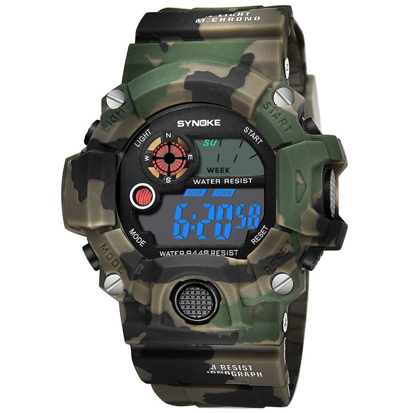 Watches Men Digital Watch Luxury Men's Multi Function Army Military Watches Sports LED Digital Dual Movement Wristwatch