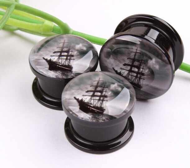 EFP036 עוגן אקריליק מנהרת אוזן תקעים פירסינג Daith Tapones Oido היפואלרגנית כירורגי פלדה 14mm אוזן Expander Plug Oreil
