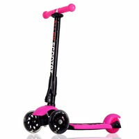 US Ship Scooters Allek Foot Kick Scooter Folding 3 Wheels With LED Light Up T Bars