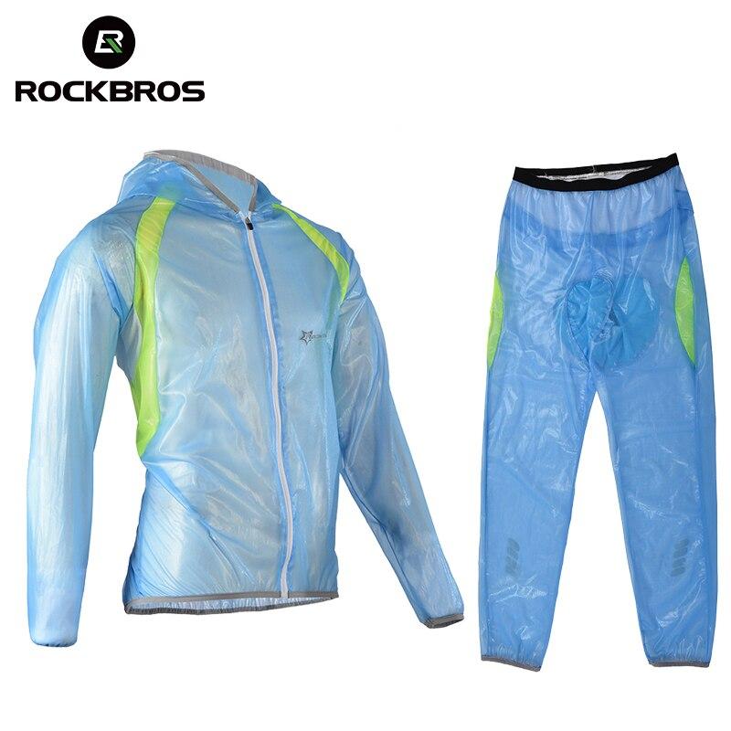 ROCKBROS Riding Bike Set Clothes Pants Multifunction Raincoat Rainproof Breathable Ultralight Windcoat Men Women Bike Raincoat