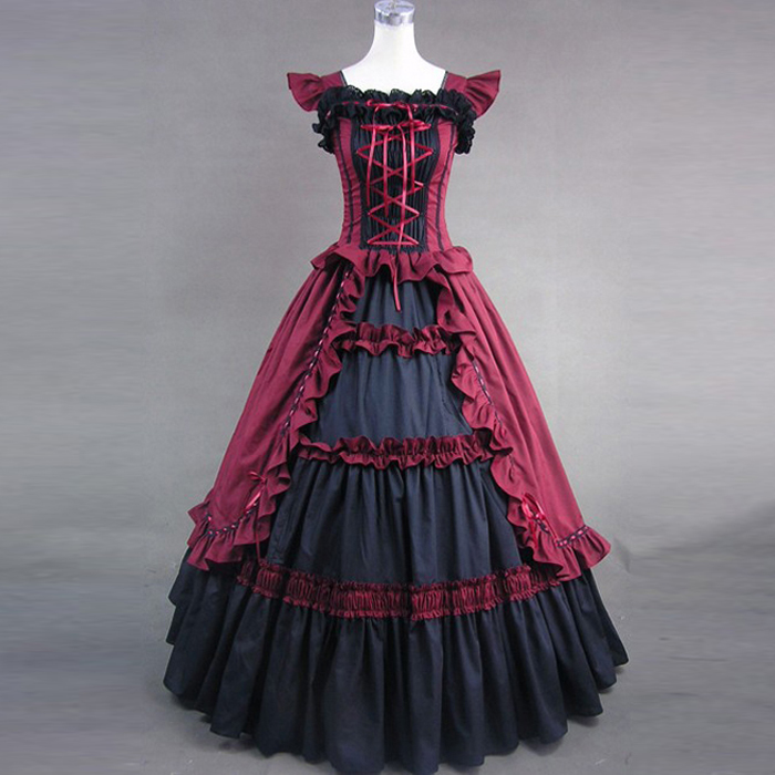 Discount Custom Made Vintage Victorian Medieval Style: Popular Gothic Victorian Dress-Buy Cheap Gothic Victorian