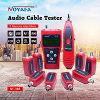 Network cable tester Cable tracker RJ45 cable tester NF 388 English version Audio Cable Tester Red color NF_388
