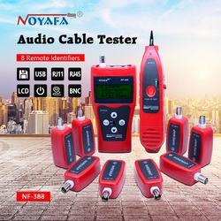 Netzwerk kabel tester Kabel tracker RJ45 kabel tester NF-388 Englisch version Audio Kabel Tester Rot farbe NF_388