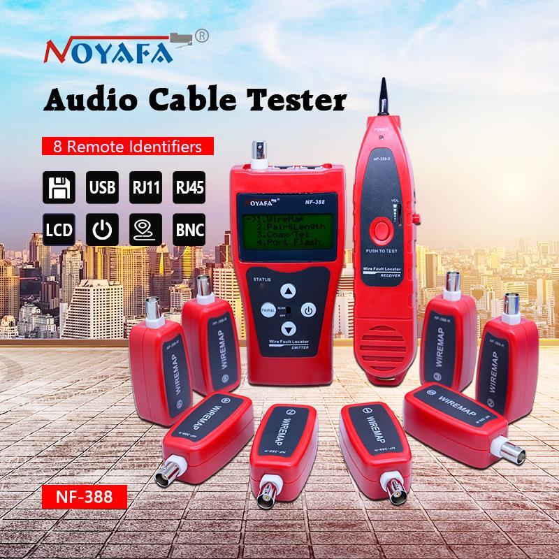 Testeur de câble réseau traqueur de câble RJ45 testeur de câble NF-388 version anglaise testeur de câble Audio couleur rouge NF_388