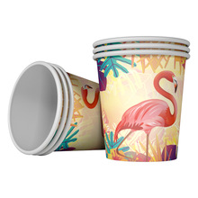 10pcs Flamingo Paper Cups Disposable Tableware glasses for Birthday Decorations Baby Shower favor