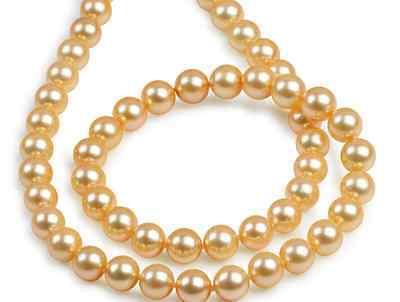 Magnifique collier de perles AAA + + rond mer du sud 9-10mm or rose 18 pouces 925 s> vente bijoux livraison gratuite