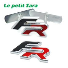 Metal FR Racing Car Front Hood Grille Badge rear Emblem car tail sticker for Audi BMW SEAT Ibiza Leon Altea Car Styling