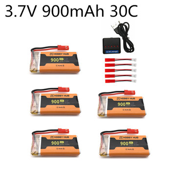 3.7V 900mAh LiPo Battery JST Plug For 8807 8807W A6 A6W M68 Rc Quadcopter Drones Spare Parts 3.7V Battery Charger image