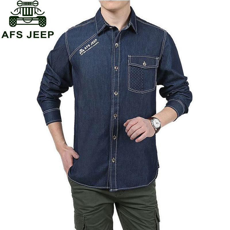 Brand CLOTHES Men Shirt 2017 Denim Shirt Spring And Autumn Mens Homme Casual Shirts Long Sleeve Slim Fit Mens Jeans Shirts 3XL ...
