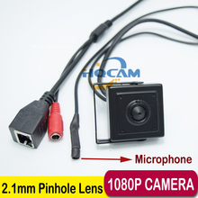 1080 P Широкий Angle140 градусов IP Аудио видео камера 2.0 мегапиксельная IP камера Мини 2.1 мм камеры-Обскуры микрофон камеры P2P сети