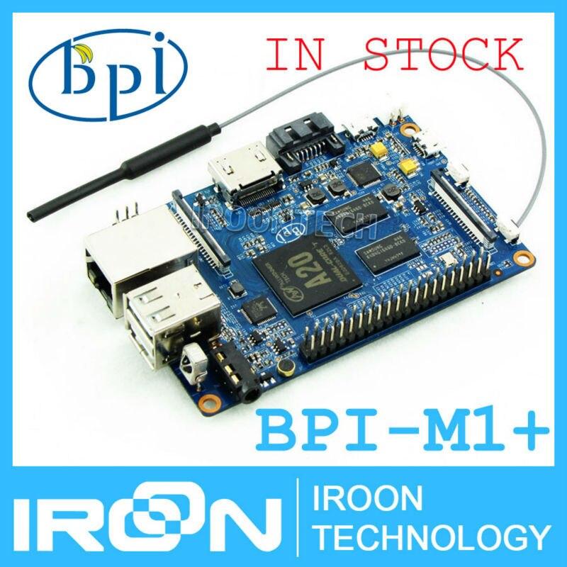 Prix pour BPI-M1 + Banane Pi M1 + plus A20 Dual Core 1 GB RAM sur-conseil WiFi Ouvert-source SBC BPI M1 + avec 2dB Antenne WiFi (au-delà Banane Pro)