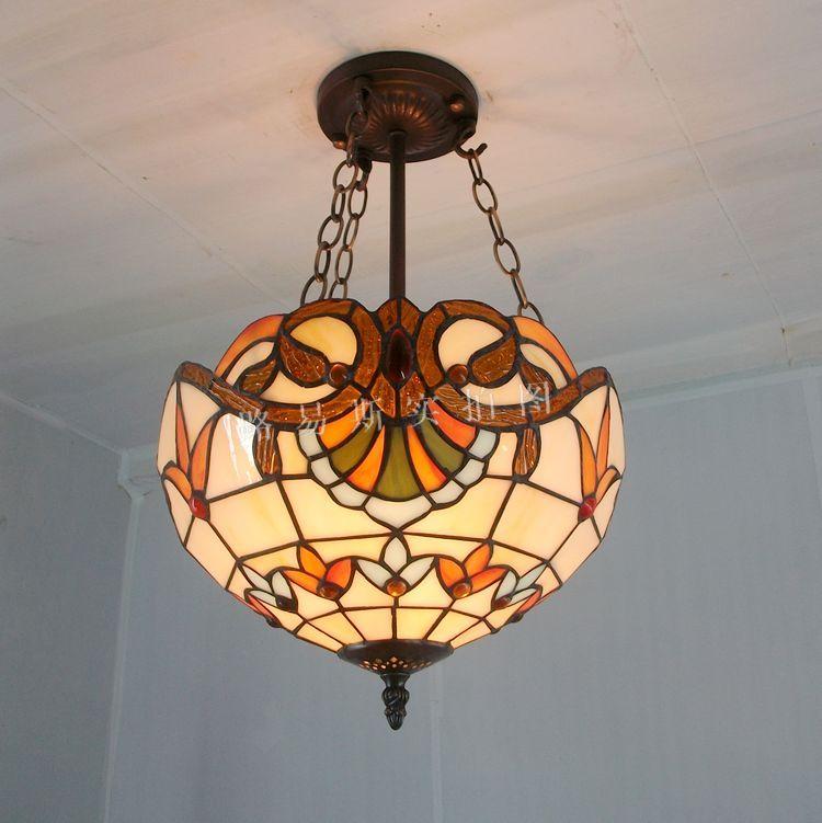 30cm fashion antique pendant light TIFFANY balcony child real lamps colored glaze lighting
