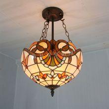 30 см антикварный кулон лёгкие тиффани балкон дети настоящее лампы цветная глазурь освещение