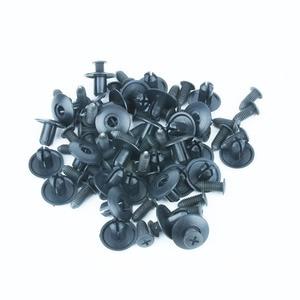 Image 2 - Xiaobaishu 100 個 8 ミリメートル穴ユニバーサル車ファスナーナイロンバンパーフェンダー固定クランプ拡張ねじ爪インテリアクリップ