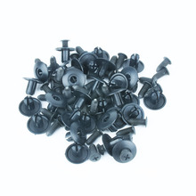 xiaobaishu 100PCS 8mm Hole Universal Car Fastener Nylon Bumper Fender Fixed Clamp Expansion Screw Threaded Nail Interior Clips