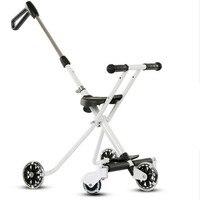 Детская пятиколесная детская коляска от переворачивания, портативная складная коляска для мамы и детей, легкая коляска