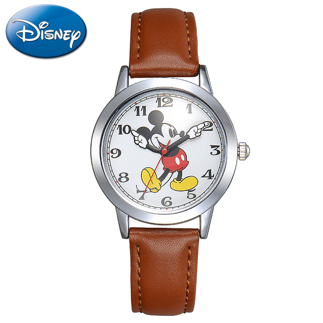 New Mickey Mouse Children's Waterproof Watch Clever Boy Girl Love Black Red Wris