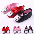 2015 Fashion Cartoon Baby Shoes Hello Kitty Toddler Newborn Antislip Bebe Crib Shoes First walkers
