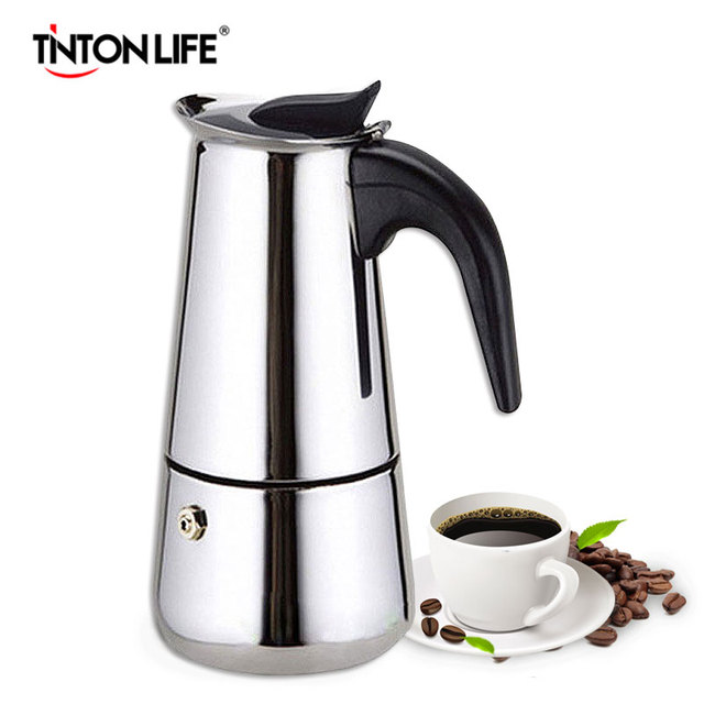 TintonLife Stainless Steel Moka Espresso Latte Percolator Stove Top Coffee Maker Pot