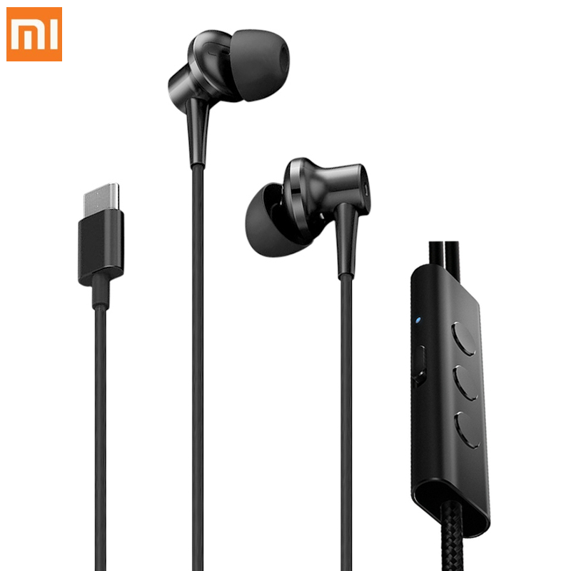 цена Original Xiaomi Noise Cancellation In-ear Earphones Type-C Version with Microphone 32ohms Wired Earphone With On-cord Control