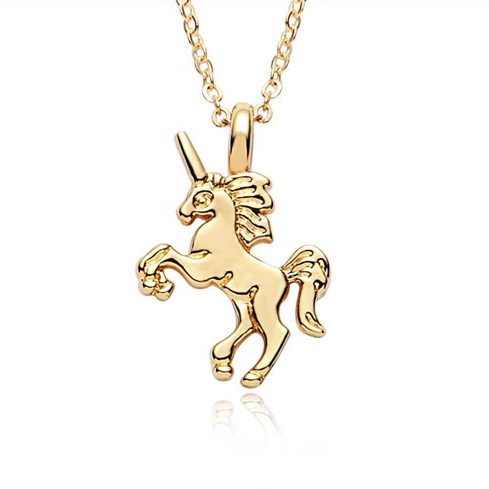 Necklace For Girls Children Kids Enamel Cartoon Horse jewelry accessories Women Animal Necklace Pendant Party in Pendant Necklaces from Jewelry Accessories