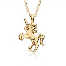 Necklace With Rainbow Unicorn Pendant