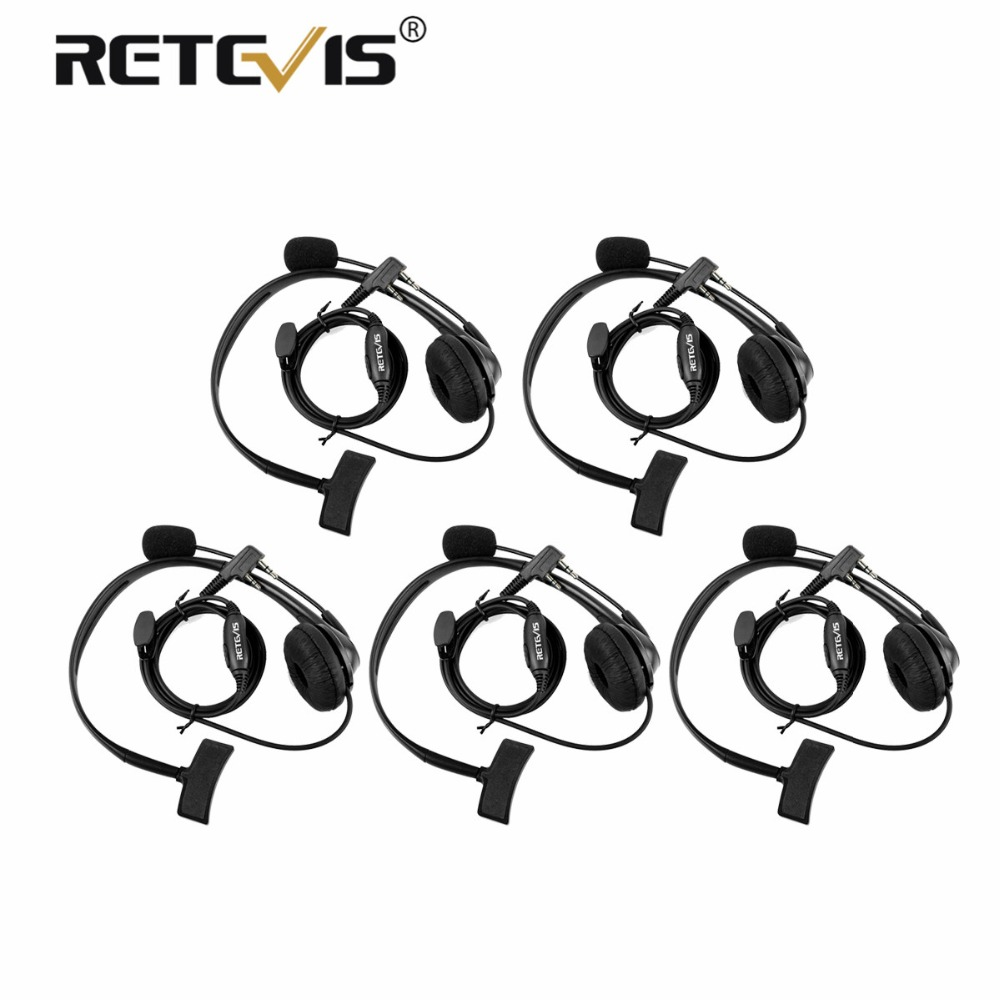 5pcs 2Pin PTT MIC Headset Sponge Earpad Earpiece For Kenwood For Baofeng UV-5R BF-888S UV82 RETEVIS H777 RT5 RT7 RT21 Ham Radio