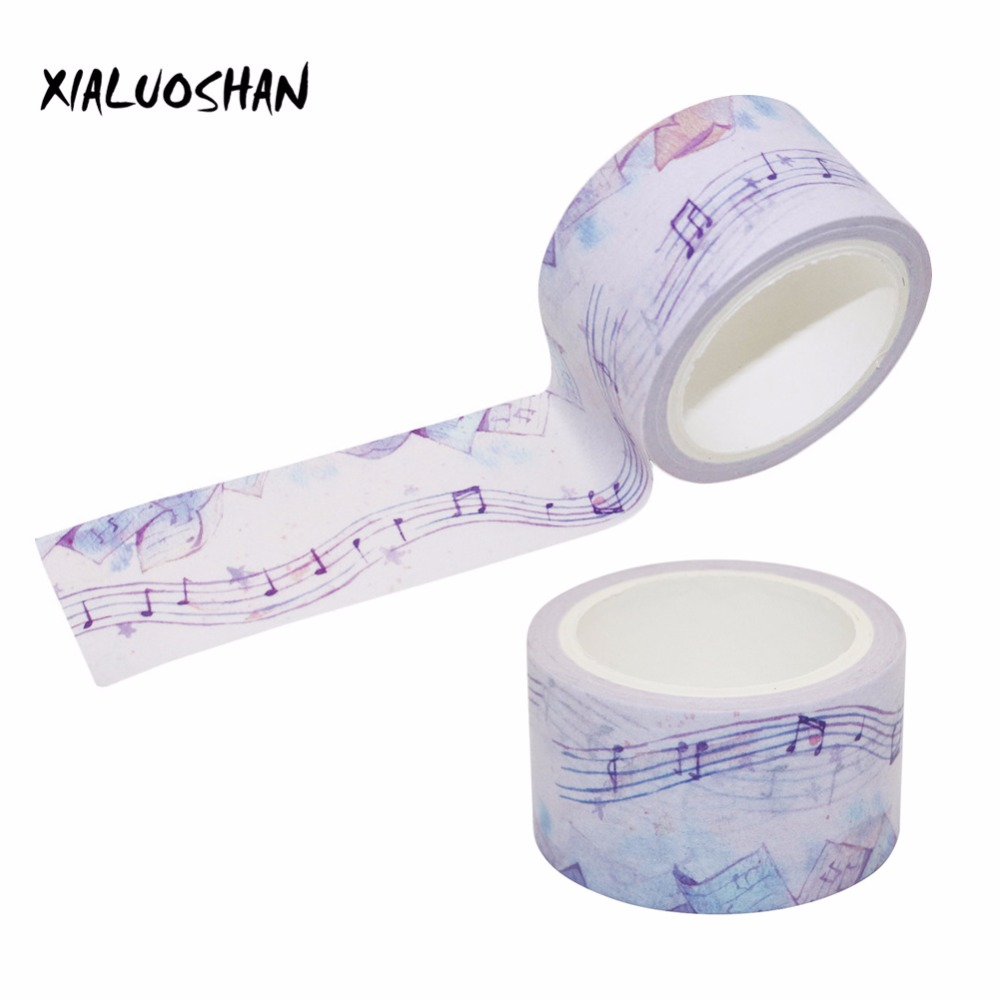 25mm X 7m Cute Lotkawaii Musical Note Decorative Washi Tape DIY Scrapbooking Masking Tape School Office Supply