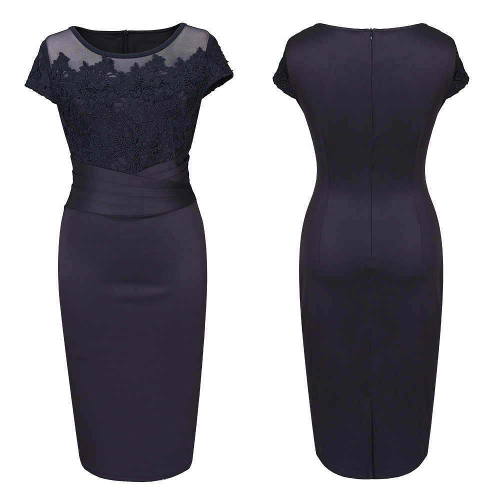 ... 2018 Summer Tunic Casual Club Bridesmaid Mother of Bride High Waist Sexy  Black Lace Dresses Party ... bff1124506a8