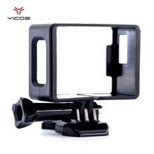 Çerçeve kabuk için EKEN H9R SJCAM SJ4000 WiFi eylem spor kamera plastik sınır koruyucu kılıf konut toka temel montaj kapağı