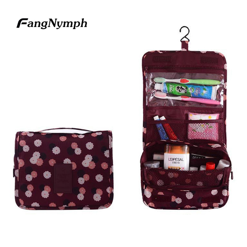 FangNymph 2018 New Multifunctional Unisex Travel Trip Cosmetic Toiletry Bag Case Portable Hanging Wash Organizer Make Up Bags ladsoul 2018 women multifunction makeup organizer bag cosmetic bags large travel storage make up wash lm2136 g