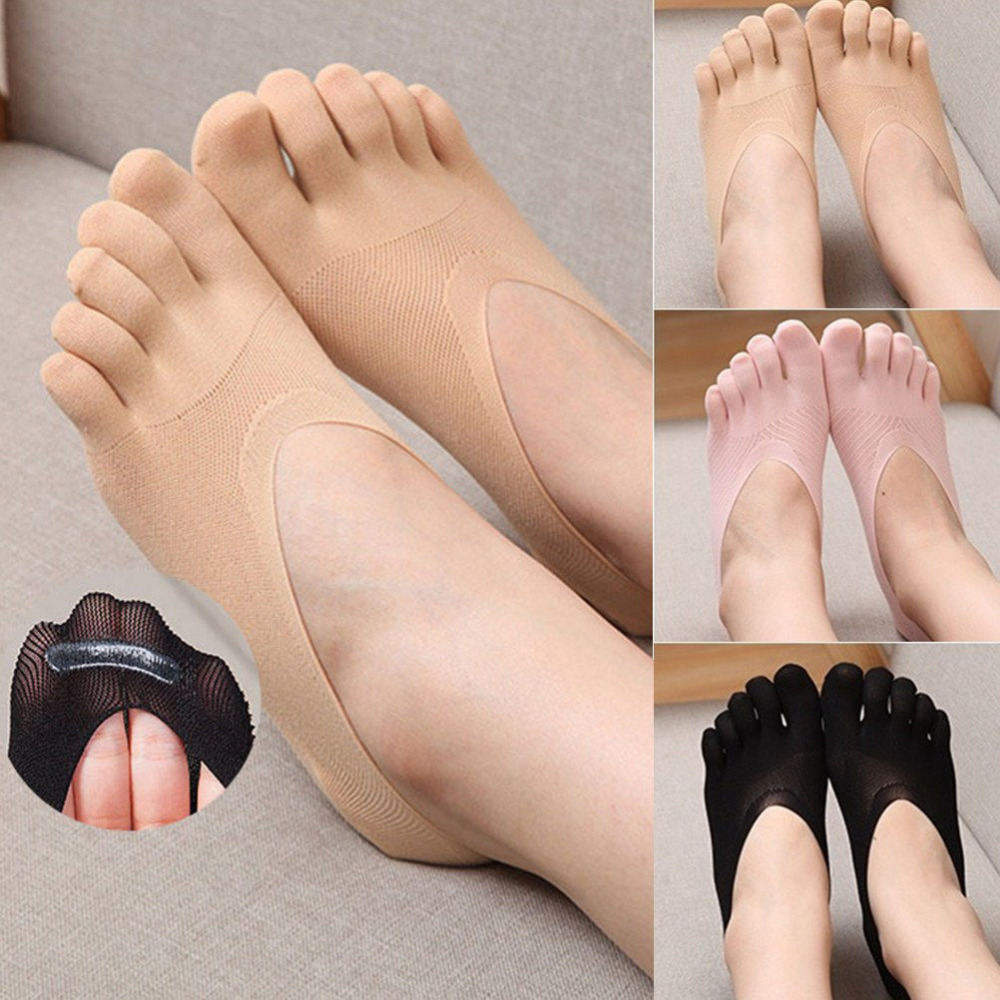 Fashion Five Finger Toe Sock Women Slippers Invisibility Socks Low Cut Solid Socks Breathable Footsies No Show Socks