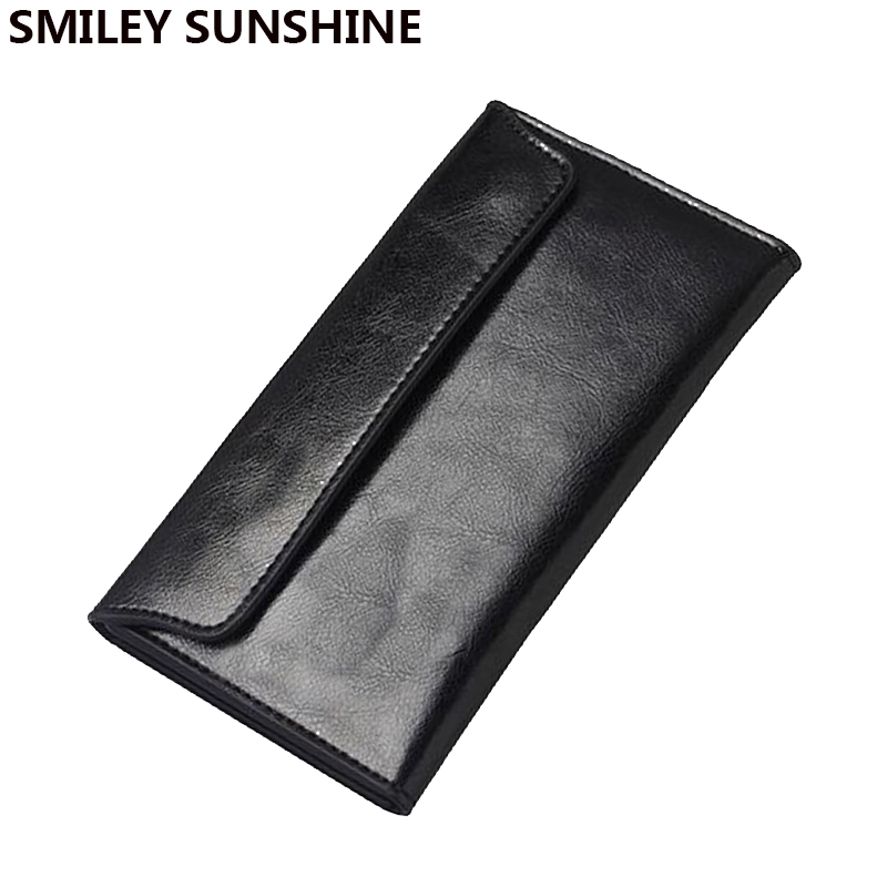 Genuine Leather women wallets female long slim wallets for women black ladies wallets and purses money portefeuille femme 2017