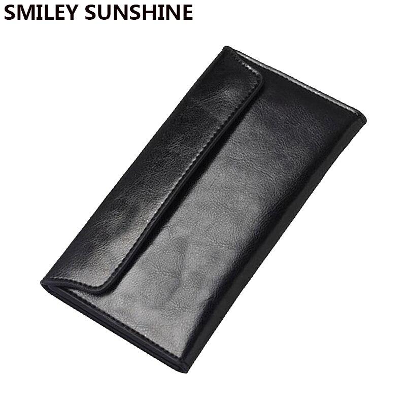Genuine Leather women wallets female long slim wallets for women black ladies wallets and purses money portefeuille femme 2017