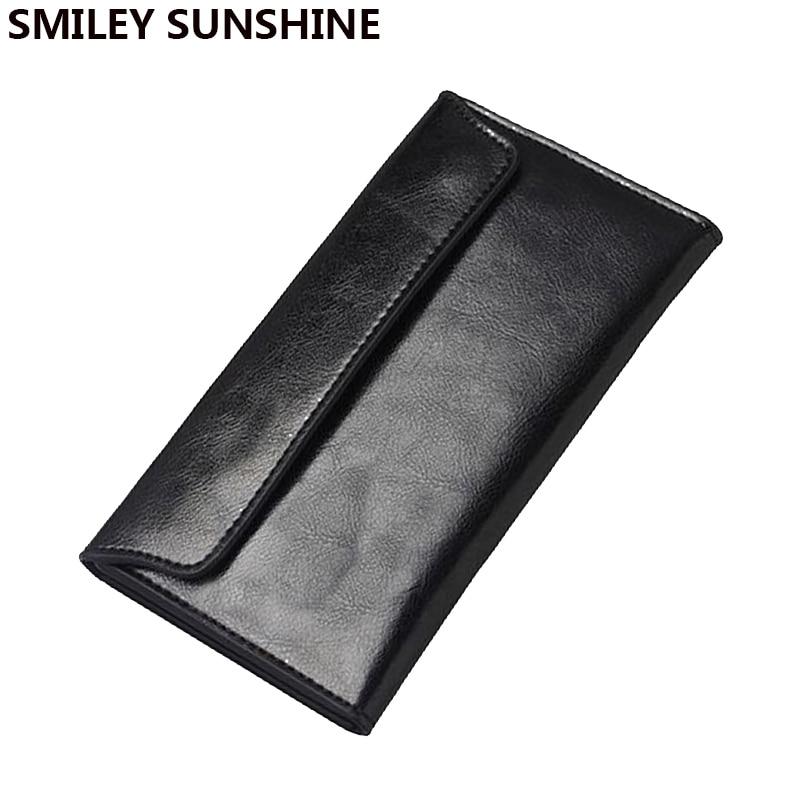 Véritable Cuir femmes portefeuilles femme longue slim portefeuilles pour femmes noir dames portefeuilles et sacs à main d'argent portefeuille femme 2017