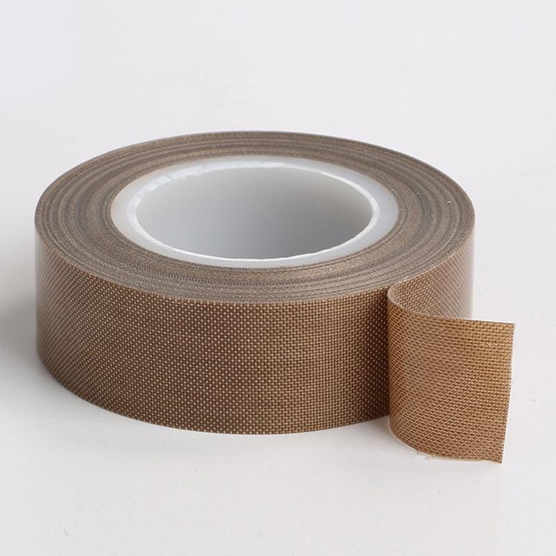 12MM/25MM X 10M/Roll Tape Teflon Resistant High Temperature Adhesive Cloth Insulation  Vacuum Sealing Machine Teflon Tape #