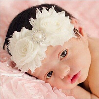 Caliente venta de tela de encaje flores diadema para beb Babys