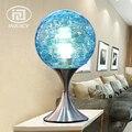 Стеклянный шар в богемном стиле  Led Настольная лампа для офиса  учебы  прикроватные декоративные настольные лампы для гостиной