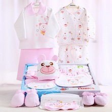 100% хлопок новорожденных подарочной коробке ( 18 шт./компл. ) детская одежда осень и зима теплая комплект новорожденный комплект для 0 — 12 мес. ребенка