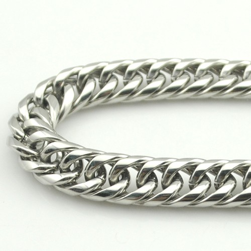 Boy's Men's Stainless Steel Link Chain Bracelet 16 Fashion Jewellery, Wholesale Free shipping, HB027 7