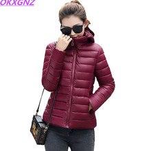 Plus Size M-4XL Women Winter Parkas Jacket 2017 Ultra Light Down Short Jacket Coat Female Padded Cotton Parka Basic Coats AH331