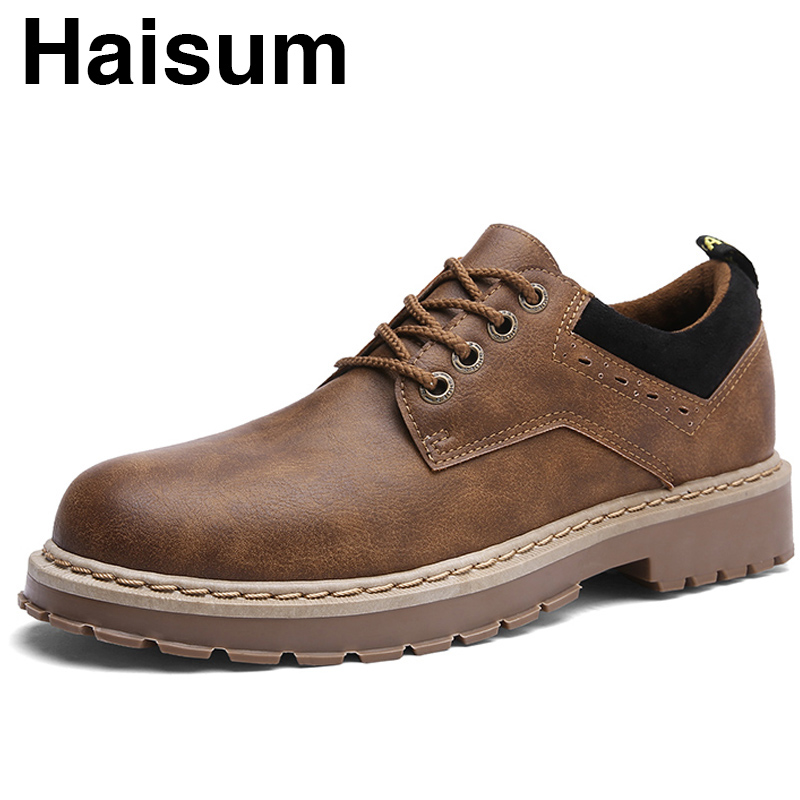 2018 spring new men's casual shoes retro British style trend men's boots H88-3 tept79001 trend ready letters casual style