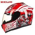 ZEUS Full Face Motorcycle helmet Moto Z13 Capacetes Motociclismo Cascos Para Moto Casque Motosiklet Kask Motorhelm Helmets